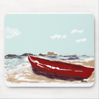 Red Boat Mouse Pad