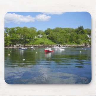 Red Boat on Glassy Water Mouse Pad