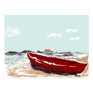Red Boat Postcard