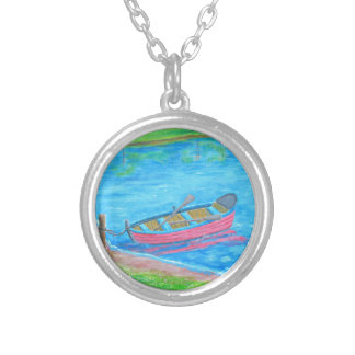red Boat Silver Plated Necklace