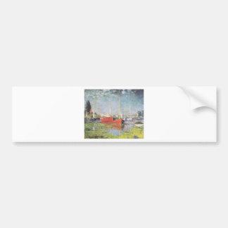 Red Boats, Argenteuil, Claude Monet Bumper Sticker