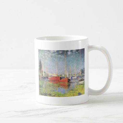 Red Boats, Argenteuil, Claude Monet Mugs