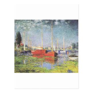 Red Boats, Argenteuil, Claude Monet Postcard