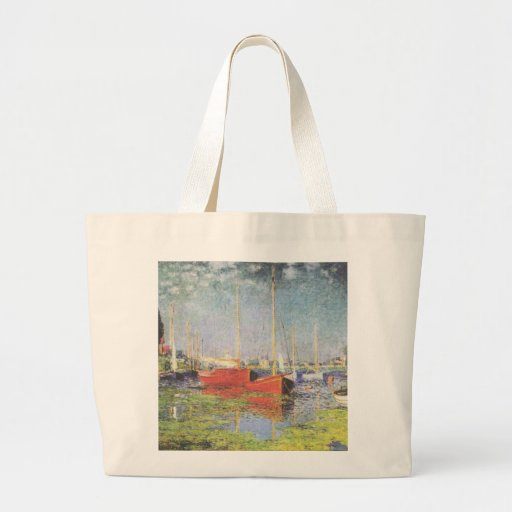 Red Boats at Argenteuil Canvas Bag