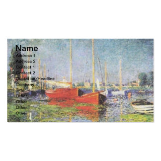 Red Boats at Argenteuil Business Cards