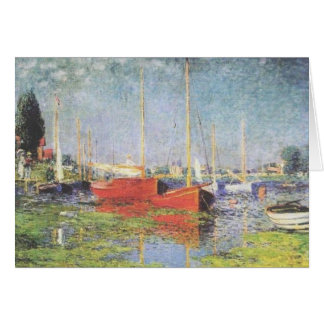 Red Boats at Argenteuil Greeting Card