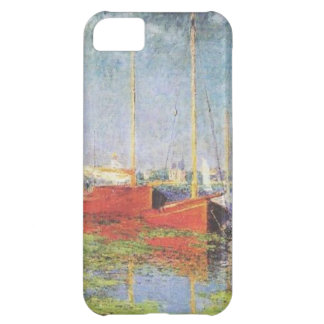 Red Boats at Argenteuil iPhone 5,  Case iPhone 5C Cases