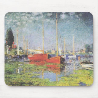 Red Boats at Argenteuil Mousepads