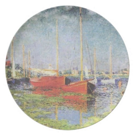 Red Boats at Argenteuil Plate