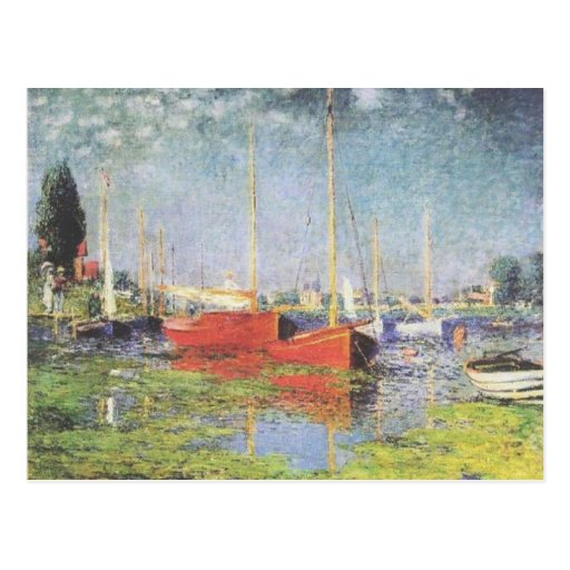 Red Boats at Argenteuil Post Card