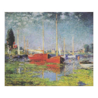 Red Boats at Argenteuil Poster
