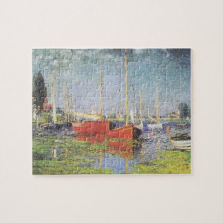 Red Boats at Argenteuil Puzzle