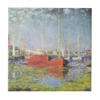 Red Boats at Argenteuil Tile