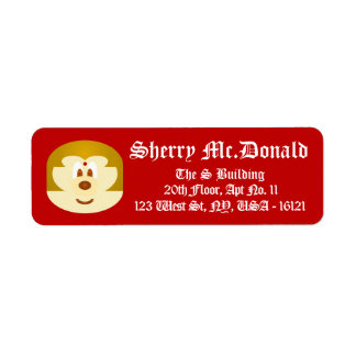 Red Bob Hair Lady 鲍 鲍 Shipping Labels 3 (Small)