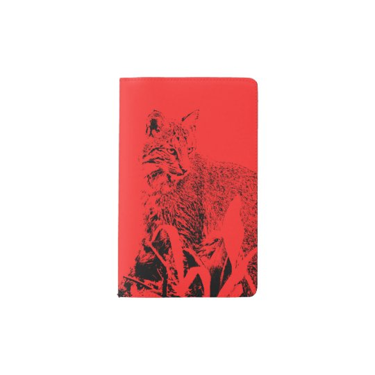 Red Bobcat Portrait Notebook Cover