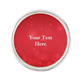 Red Bokeh Design, Lapel Pin Template