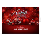 Red Bokeh Sparkle Elegance Corporate Folded Card