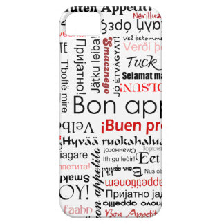 Red Bon appetit in many different languages iPhone 5 Cover