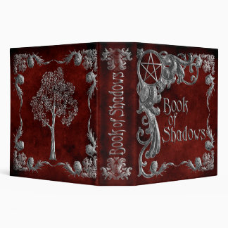 """Red """"Book Of Shadows"""" w/ Silver Highlights #1-L Binders"""