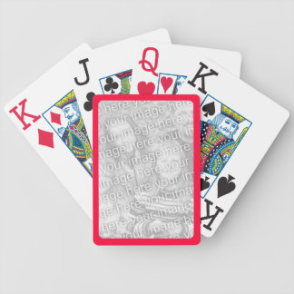 Red Border for Photo Bicycle® Playing Cards