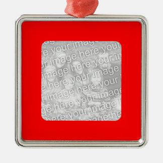 Red Border Photo Ornament
