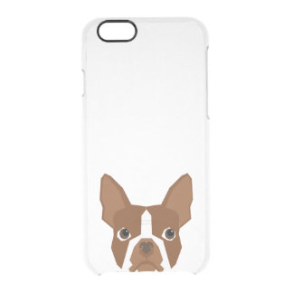 Red Boston Terrier clear case - dog phone case