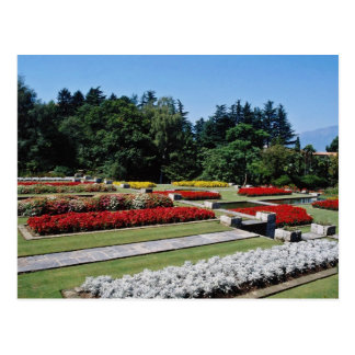 Red Botanical gardens of Villa Tranto on Lake Magg Postcard