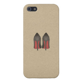 Red Bottoms Stilettos shoes heels kraft box Cover For iPhone 5/5S