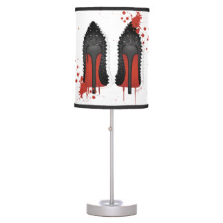 Red Bottoms Stilettos shoes heels spatters & drips Table Lamp