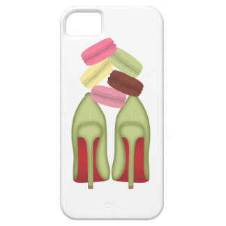 Red Bottoms stilettos shoes, high heels & macarons Case For The iPhone 5