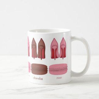 Red Bottoms stilettos shoes, high heels & macarons Coffee Mug