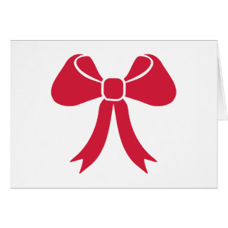 Red bow card