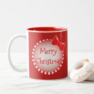 Red Bow Merry Christmas   Photo Coffee Mug