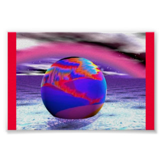 Red Bow Sphere Poster