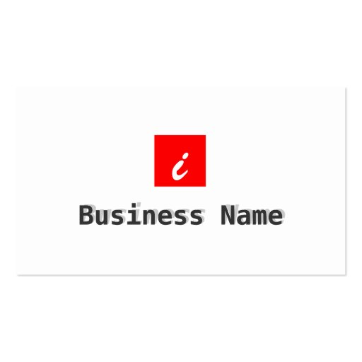 Red Box Bodybuilding Business Card