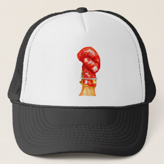 Red Boxing Glove Trucker Hat