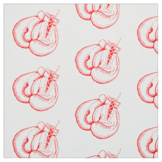 RED BOXING GLOVES DESIGN PATTERN FABRIC