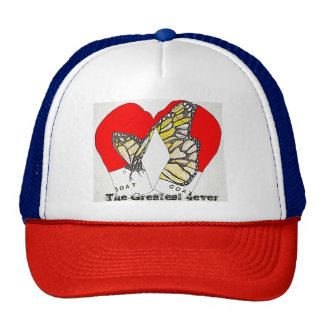 Red Boxing Gloves with Monarch Butterfly on hat