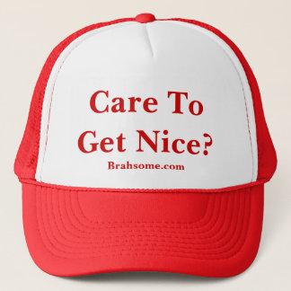 Red Brahsome Trucker Hat