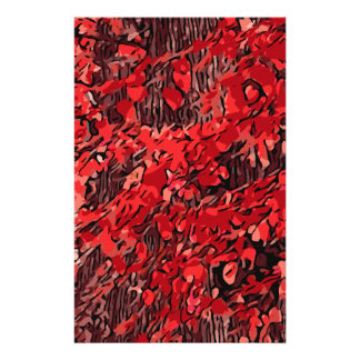 Red branches stationery