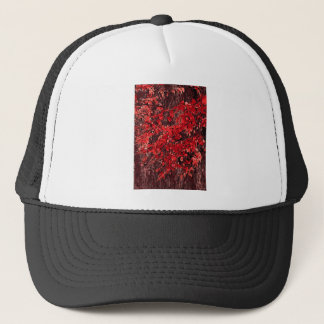 Red branches trucker hat