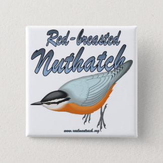 Red-breasted Nuthatch 2 Inch Square Button