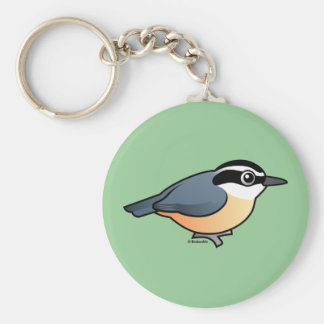 Red-breasted Nuthatch Basic Round Button Keychain