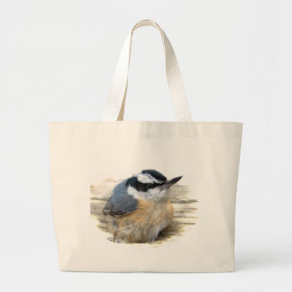 Red-breasted Nuthatch Large Tote Bag