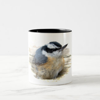 Red-breasted Nuthatch Two-Tone Coffee Mug