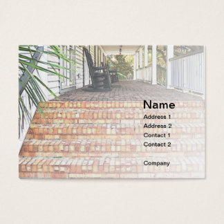 red brick clubhouse steps business card
