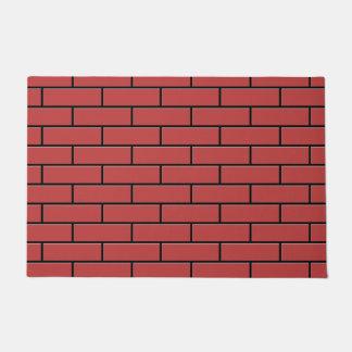 Red Brick Pattern. Doormat
