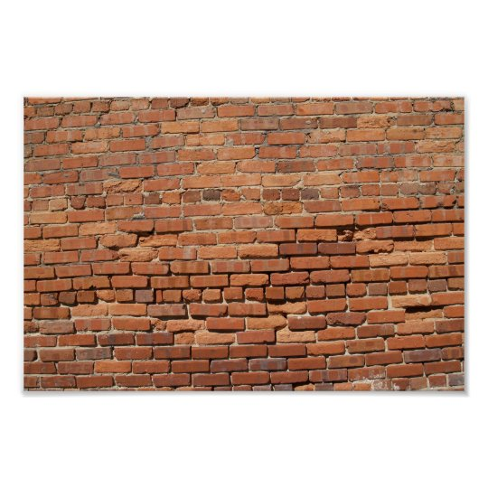 Red Brick Wall Canvas or Poster