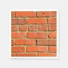 Red brick wall paper napkin