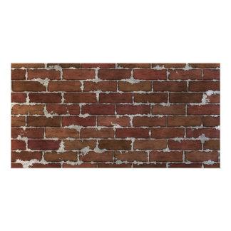 Red Brick Wall Custom Photo Card